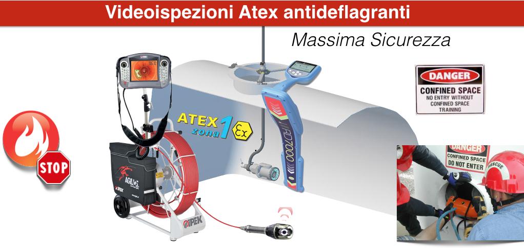 Videoispezioni Tubazioni e Serbatoi in Atex